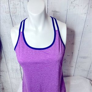 Champion purple and navy tank top size small